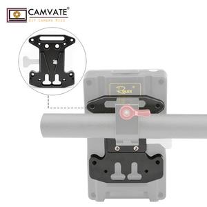 Image 4 - CAMVATE Camera QR Assembly Kit V Lock Quick Release Plate For DSLR/Blackmagic URSA Mini/ DJI Ronin M/MX V Mount Battery Mounting