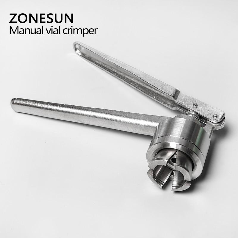 ZONESUN Manual vial crimper, medical crimper, bottle cap crimping tool, Antibiotics bottle capper machine, capping machine
