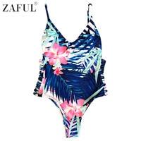 ZAFUL One Piece Swimsuit Sexy Swimwear Women 2017 Summer Beach Wear Bathing Suit Sexy Cut Out