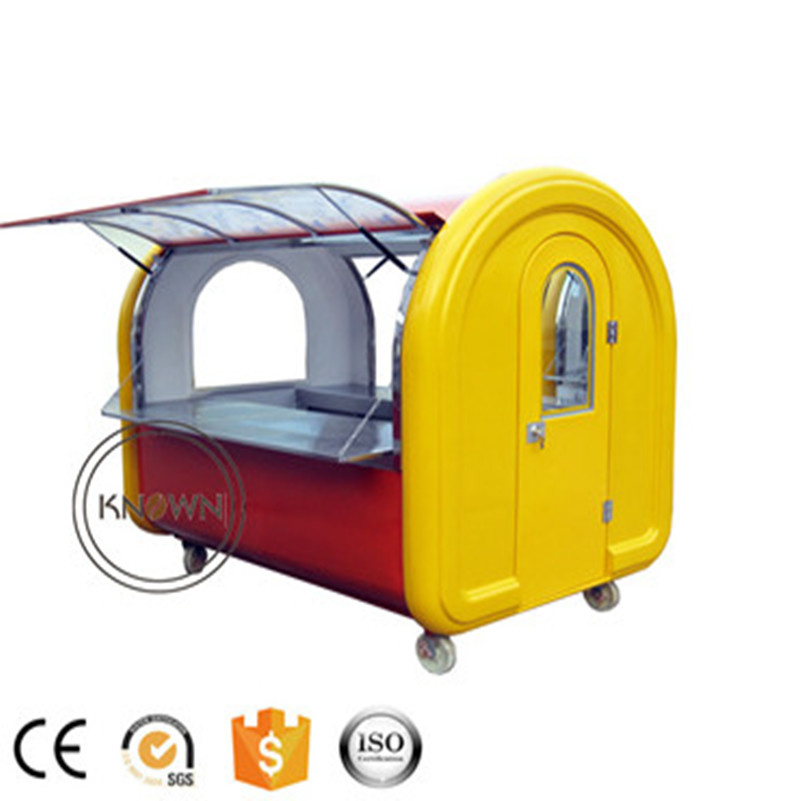 The most popular hand push customized 220 cm long food cart food truck mobile food trailer|Food Processors| |  - title=