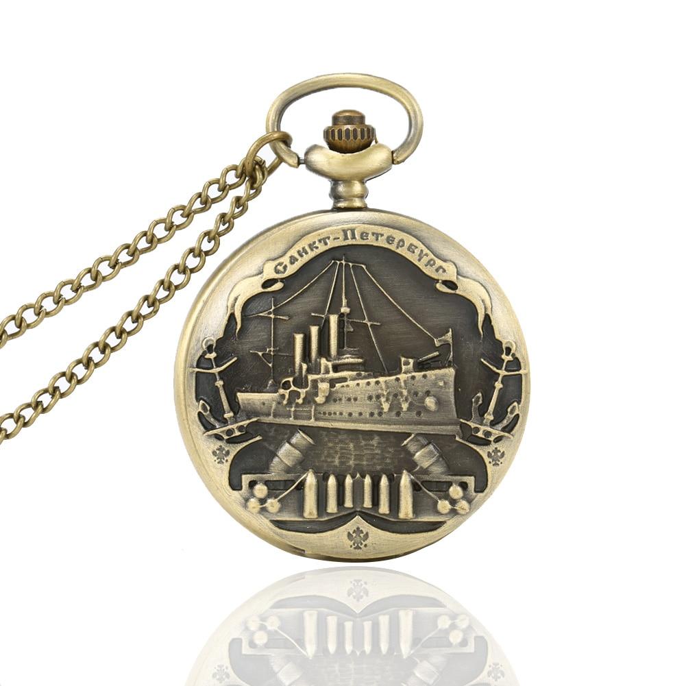 6 Styles Vintage Charming Train Boat Ship Carved Hollow Steampunk Quartz Pocket Watch Men Women Necklace Pendant Clock LL@1