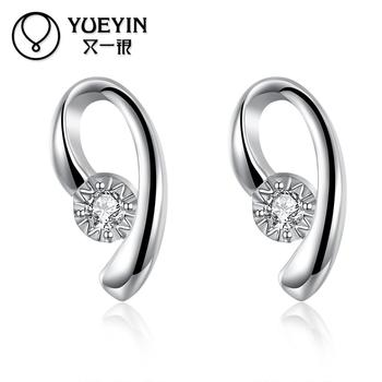 Silver plated jewelry earrings for women Trendy jewelry Luxurious Hot Sale jewelry Gift for Anniversary fashion earrings золотые серьги по уху