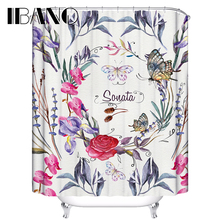Colorful More Than Flowers Shower Curtain Waterproof Polyester Fabric For The Bathroom With 12 Hooks