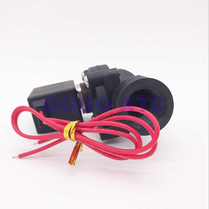 """2 варианта Пластик электромагнитный клапан NBR/EPDM/FKM 1/2 """"3/4 1 дюймов отверстия 15/20/25 мм нормально закрытый PP-15/20/25 воды клапан 10bar 220 В"""
