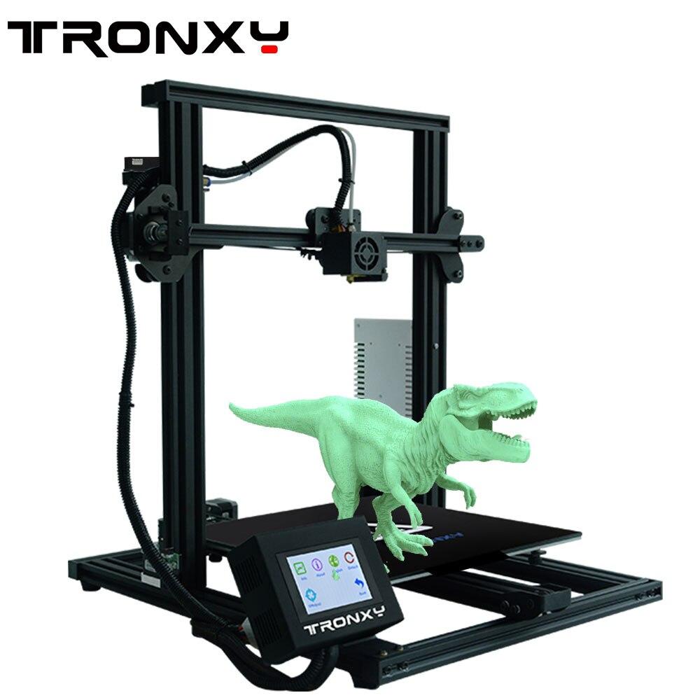 2019 Mais Novo Full metal Impressora 3D Tronxy XY-3 Rápida Montagem Magnética viveiro Calor Papel 310*310 milímetros 0.25KG PLA Filament como presente