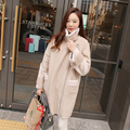 2017 Hot sale women winter jackets 2 colors cotton long sleeves lapel coats fashion deerskin thickening warm female clothing