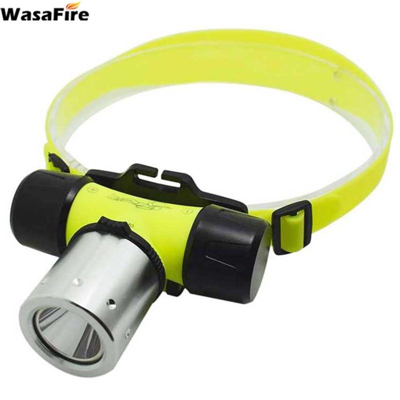 Super Bright XML T6 LED Diving Headlamp 1000 Lumen 3 Modes Waterproof Underwater  Diver Headlight Forehead Head Torch Use 18650