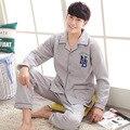 Пижамы Мужчин Печати Хлопок Мужские Пижамы 2016 Зима Корейский Стиль Европа Новое Прибытие Свободные Большой Размер Бренд Одежды