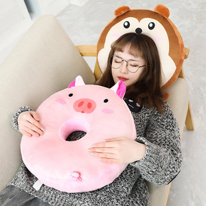 Image 1 - 40 センチメートルかわいいぬいぐるみ脂肪動物園動物ドーナツぬいぐるみ枕のおもちゃぬいぐるみかわいい動物漫画枕クッションための素敵なギフト子供