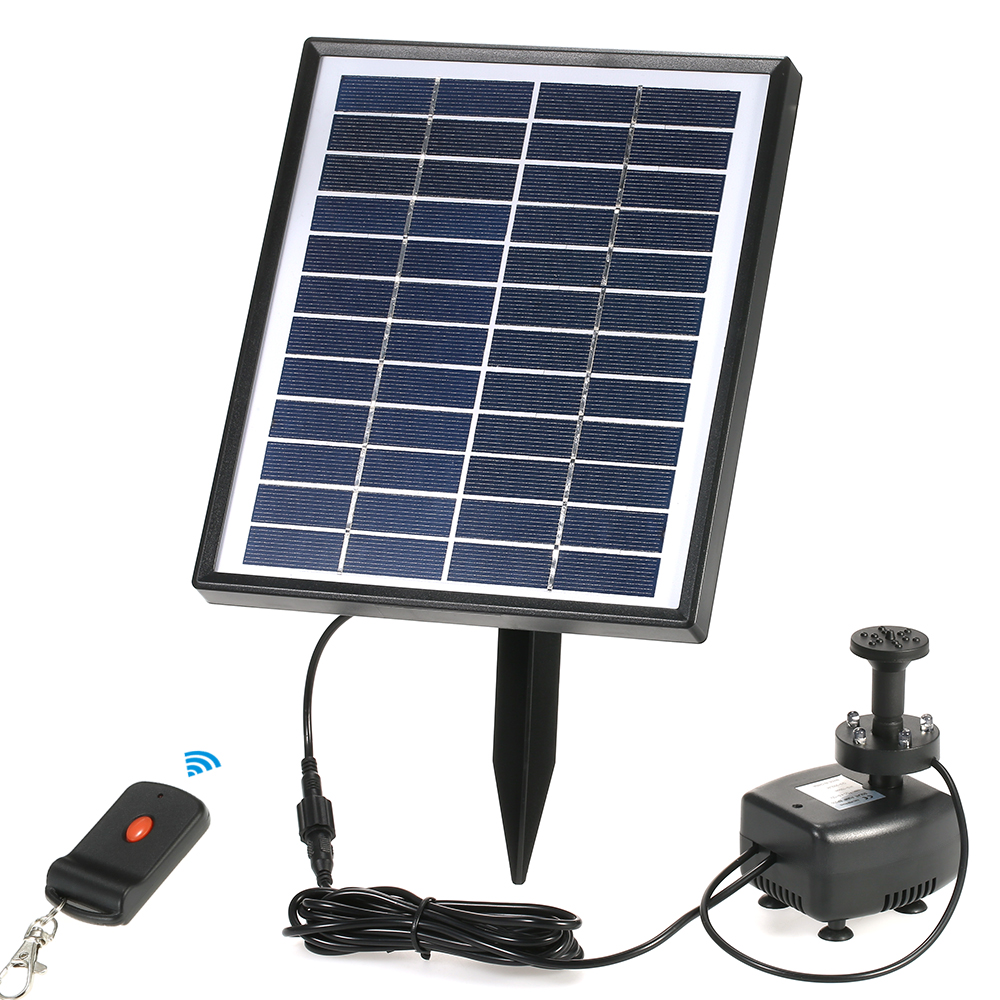 12v 5w mini solar water pump power panel kit fountain pool for Garden pool accessories