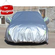 Full Car Covers For Accessories With Side Door Open Design Waterproof Peugeot 207 208 307 308 407 408 508 2008 3008 5008