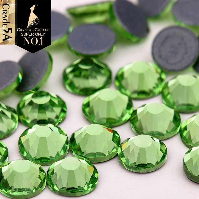 Detail Feedback Questions about Crystal Castle 5A SS6 1.9mm 2.0mm Eyelash  Glitter Crystal Strass Hotfix Peridot Flat back Hot Fix Rhinestone For Nails  on ... d9fbd65c6de1