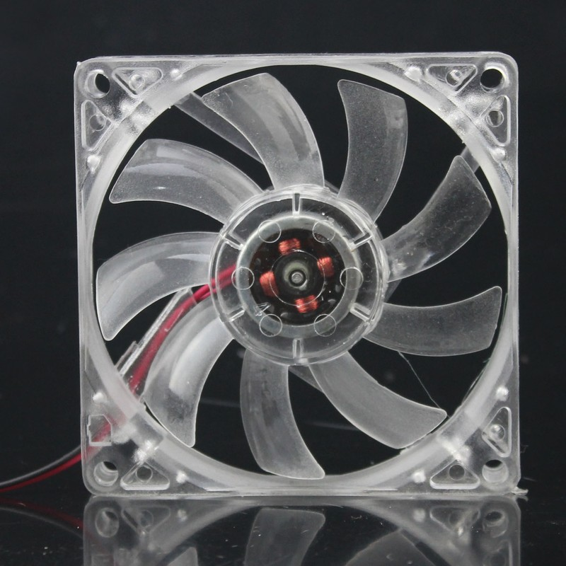 2pieces 4Pin 8015 80x80x15MM 80MM 8cm 12V Transparent DC Cooling Cooler Fans original delta aub0812vhb 8015 8cm 80mm dc 12v 0 30a slim chassis power supply cooling fans cooler