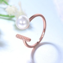 jingyang mermaid tears imitation pearl rings for women jewelry Girls crystal adjustable engagement Valentines Day jewellery