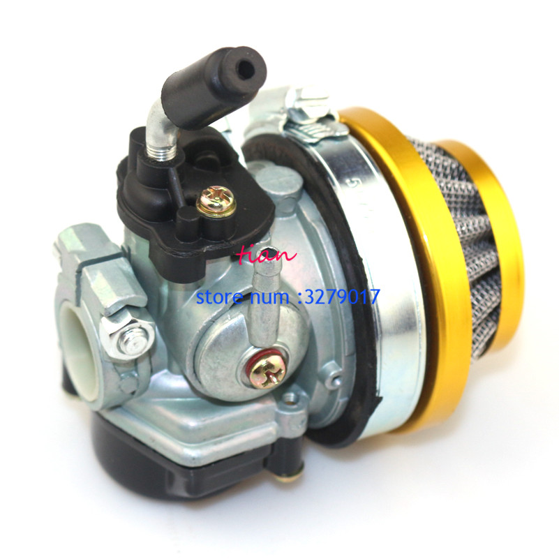 ATV 49cc Leistung 19mm Carb Vergaser Luftfilter Montage für 2-takt-47cc 49 Cc Mini <font><b>Pocket</b></font> <font><b>Bike</b></font> Group-76-yellow image