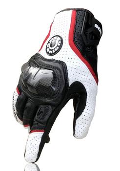 Darmowa wysyłka UB 390 rękawice motocyklowe rękawice wyścigowe rękawice z włókna węglowego prawdziwej skóry 3 kolor tanie i dobre opinie Z pełnym palcem Skóra Mężczyźni