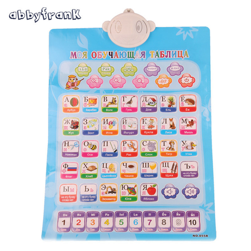 English Learning Machine Russian Alphabet Electronic Baby Alphabet Music Toy Educational Phonetic Language Sound Toy For Child