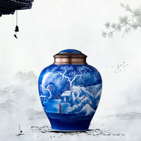Large Capacity Ceramic Cremation Urn Ashes Human Urns For Ashes Funeral Cremation Memorials Funeral Casket Vase Holder Ritual