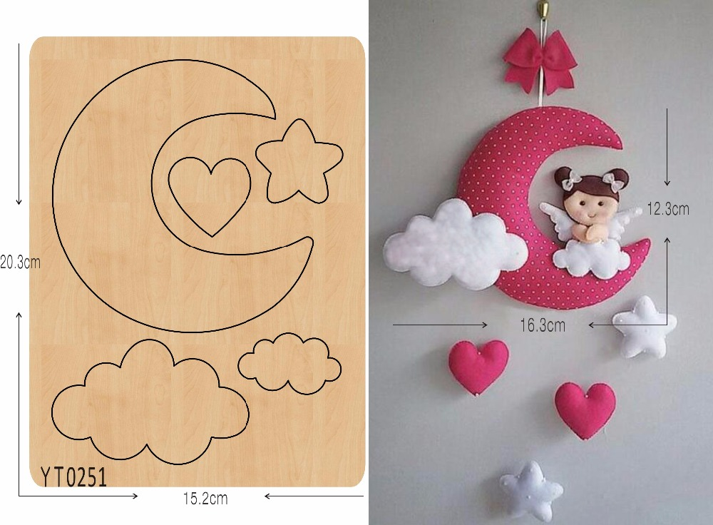 Moon and stars DIY cutting tool die  /YT0251/Scrapbook moldMoon and stars DIY cutting tool die  /YT0251/Scrapbook mold