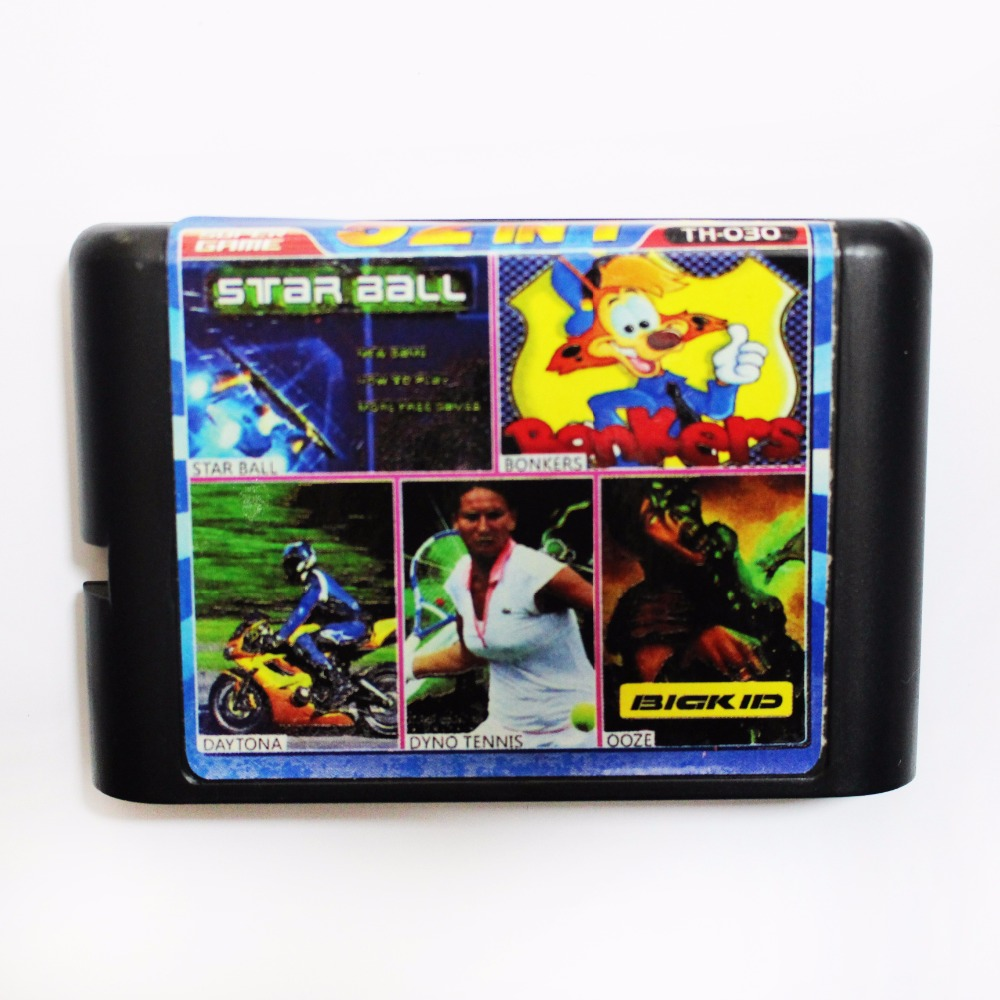 Sega MD Game Card Multi Game Cartridge For 16 bit Sega Mega Drive / Genesis - TH030