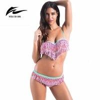 YOUDIAN Top Qualité Gland Sexy Bikini Brésilien Néon Maillots De Bain Femmes Maillot de Bain Push Up Mini Maillot de bain de Plage Piscine 2 couleur