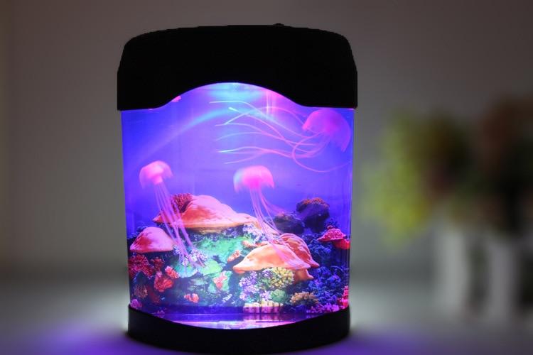 NEW Jellyfish Aquarium LED Multicolor Lighting Fish Tank Mood Lamp Night Light