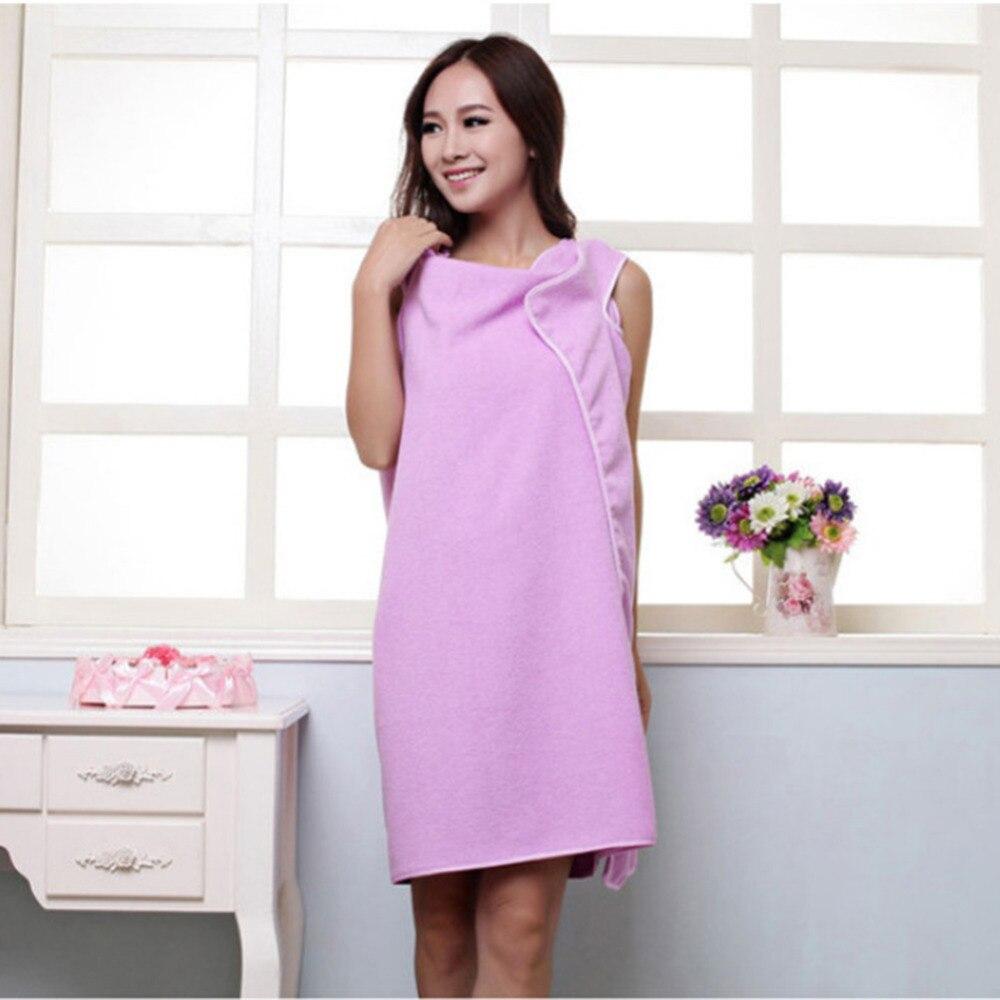 4 colores creativo usable bath towel superfino de fibra de baño falda camisola s