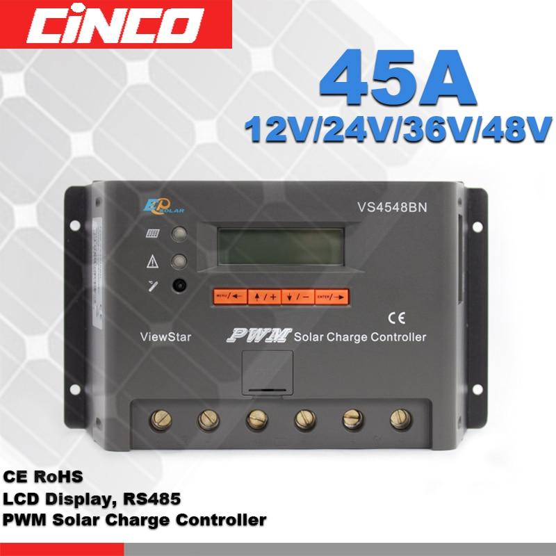 VS4548BN 45A 12V/24V/36V/48V Solar regulator,epsolar solar regulator LCD display with RS485 for solar home sytemVS4548BN 45A 12V/24V/36V/48V Solar regulator,epsolar solar regulator LCD display with RS485 for solar home sytem