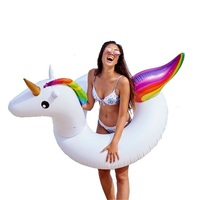 120*90cm Giant Inflatable Unicorn Swimming Ring Pool Float For Adult Children Water Floats Holiday Party Toys Piscina,HA045
