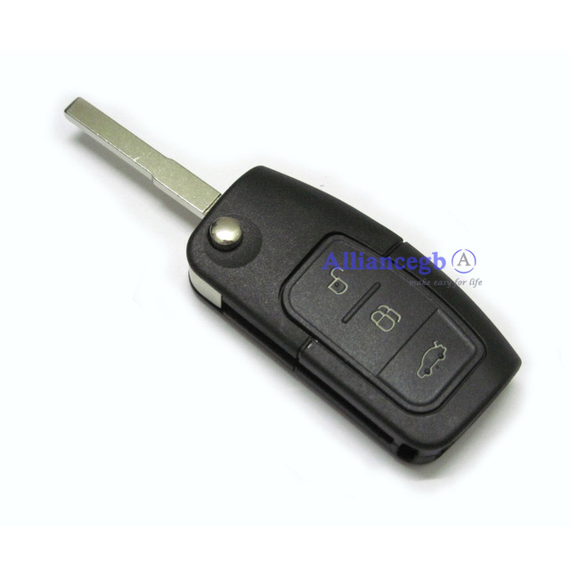 Flip Remote Key Case Shell For FORD C S MAX Focus Galaxy Kuga Mondeo 3 Button