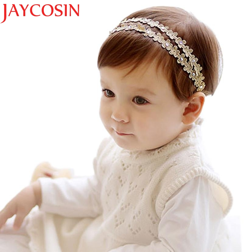 2016 Rhinestone Mini Headbands girl hair accessories Girl headband cute hair band newborn floral headband WJul26 drop Shipping цены онлайн