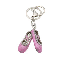 Fashion ballet shoes small gift pendant mini small shoes Rhinestone Key Chain Gift Women Jewelry KD13