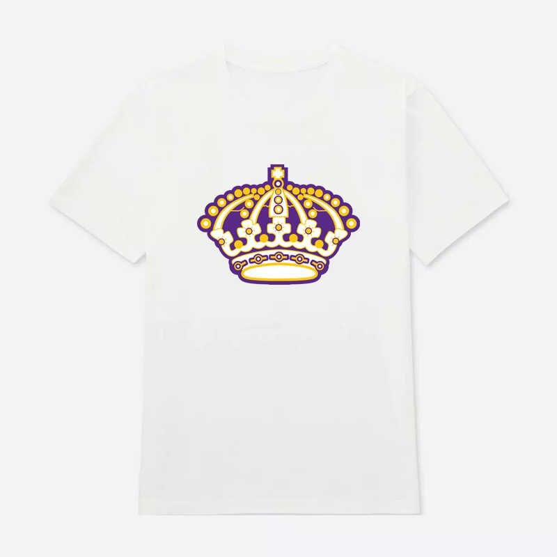 Coldindoor Hohe qualität Los Angeles eishockey Fans männer T Shirts Mit Druck kings Logo Baumwolle