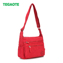 Tegaote 캐주얼 럭셔리 여성 메신저 가방 숄더 백 bolsa feminina 방수 나일론 여행 가방 여성 crossbody bag sac a main