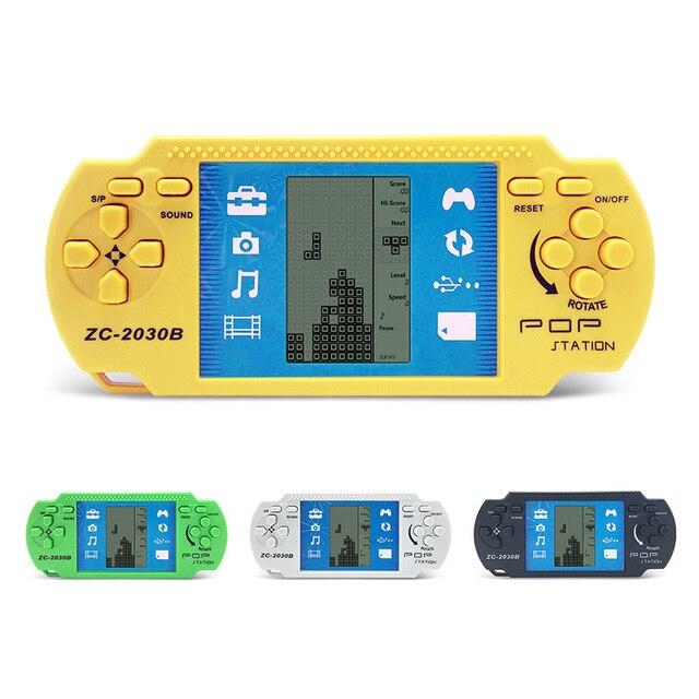 2 Unids Ninos Clasico Reproductor Portatil Retro Tetris Consola De