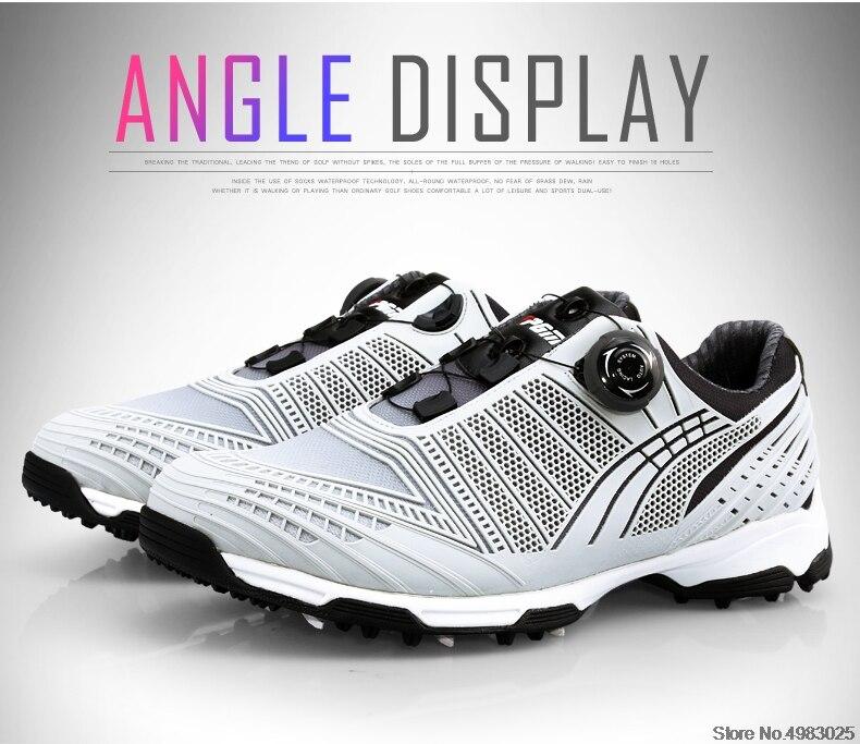 tênis de golfe 3d impressão esportes atlético sapatos de golfe aa51039