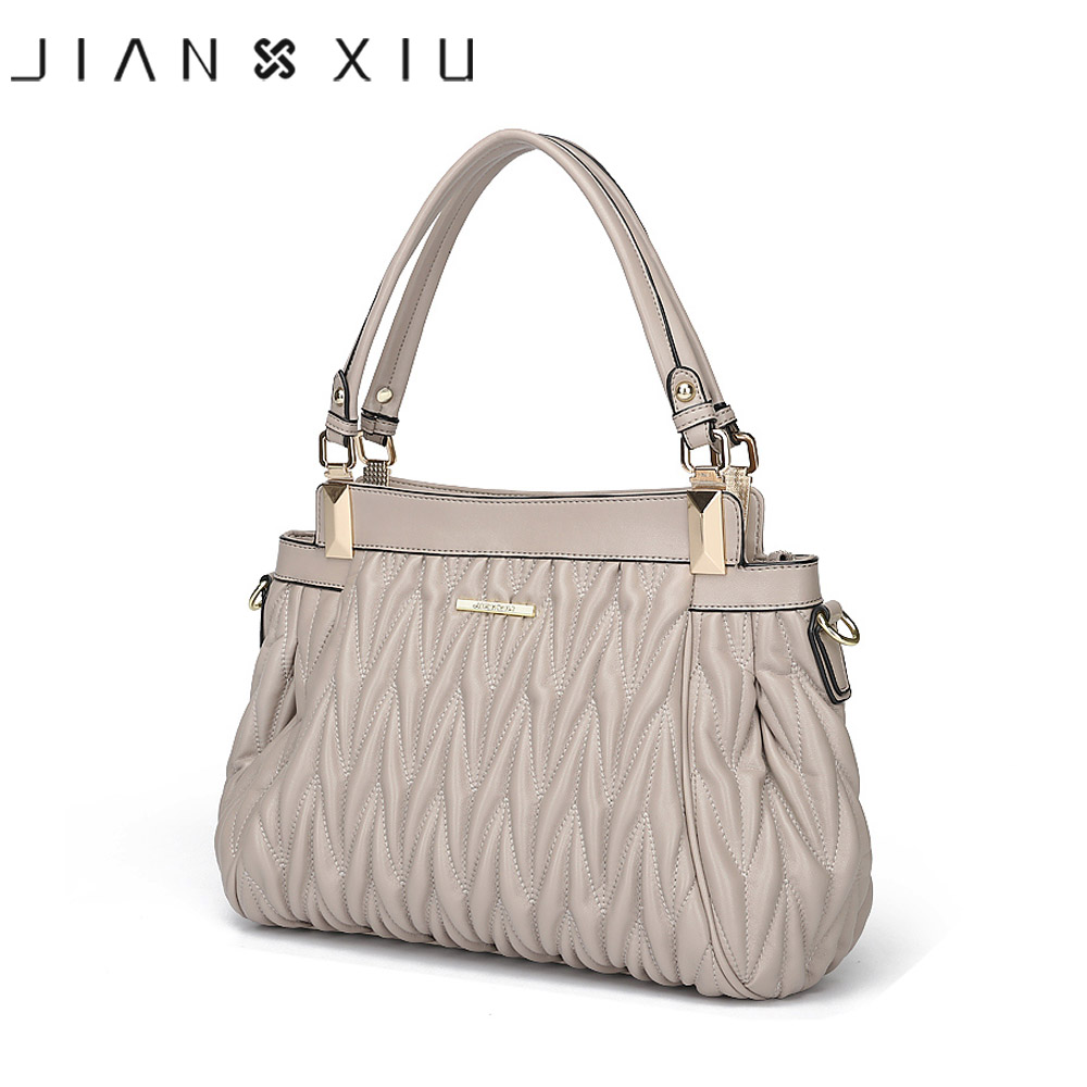 JIANXIU Women Split Leather Bags Designer Handbags High Quality Bolsa Bolsos Mujer Sac a Main Tote Bolsas Feminina Shoulder Bag women peekaboo bags flowers high quality split leather messenger bag shoulder mini handbags tote famous brands designer bolsa