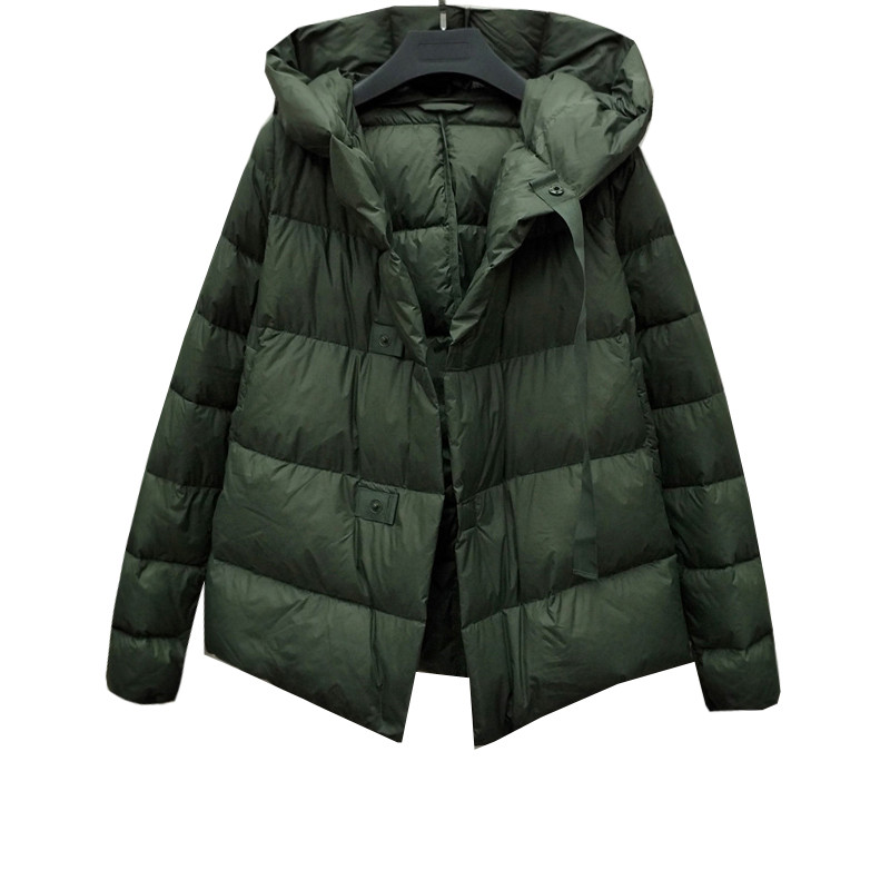Winter Women Jacket 2018 New High Grade Hooded Short Female   Down     Coat   Single-Breasted Loose Cold Protection Ladies Parkas Cw302