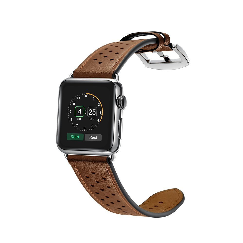 все цены на Leather Strap Band for apple watch Series 3 2 wriststrap With black adapter for iWatch 42mm 38mm watchband bands онлайн