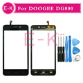 "Original 4.5"" For DOOGEE DG800 Touch Screen Digitizer Sensor Glass Lens Panel Black + Tools Free shipping"