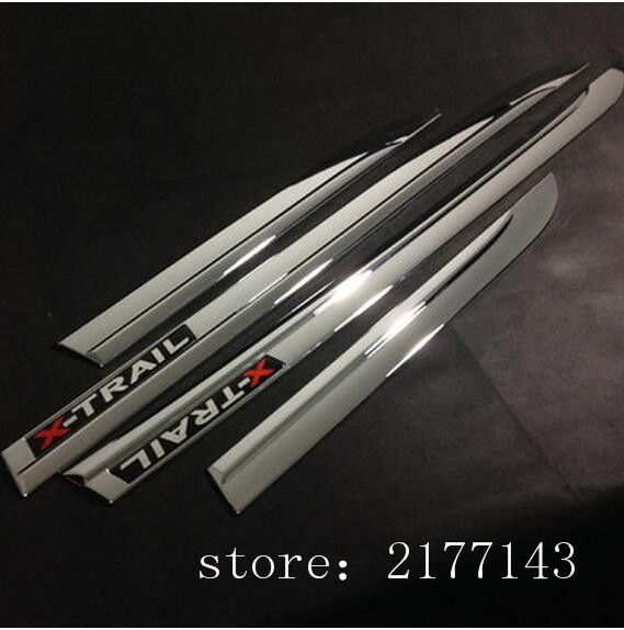 ABS Chrome Side Door Body Protection Molding Trim Cover for Nissan X-Trail X Trial Rogue T32 2014 -2016 Car Styling Accessories