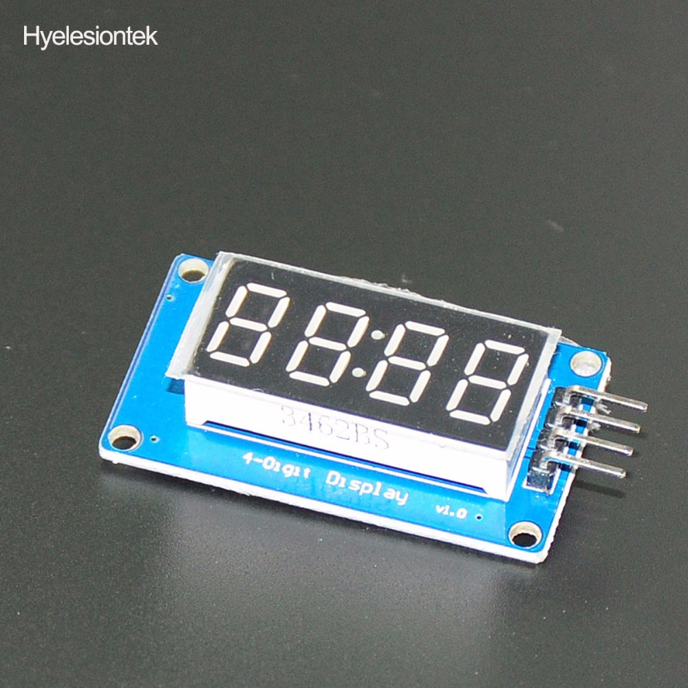 TM1637 LED Display 7Segment For Clock Module LED Affichage 4 Bits 0.36Inch Clock RED Anode Digital Tube Four Serial Driver Board
