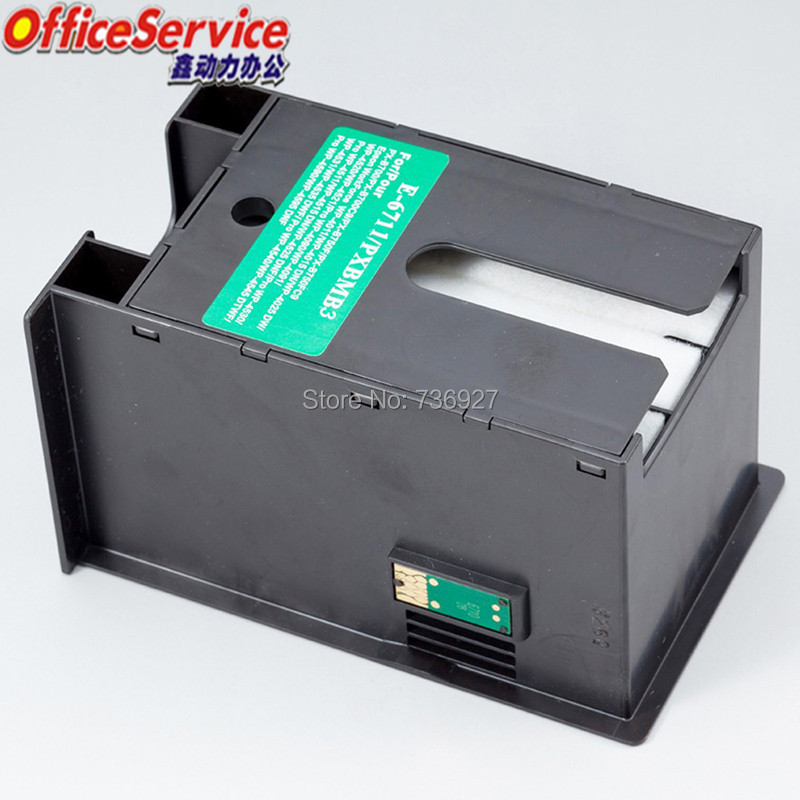 Compatible Waste Ink Container T6711 For Epson WF-3010 3520 3530 3540 3621 7110 7610 7620 3011 3531 3641 7111 7611 7620 Printer