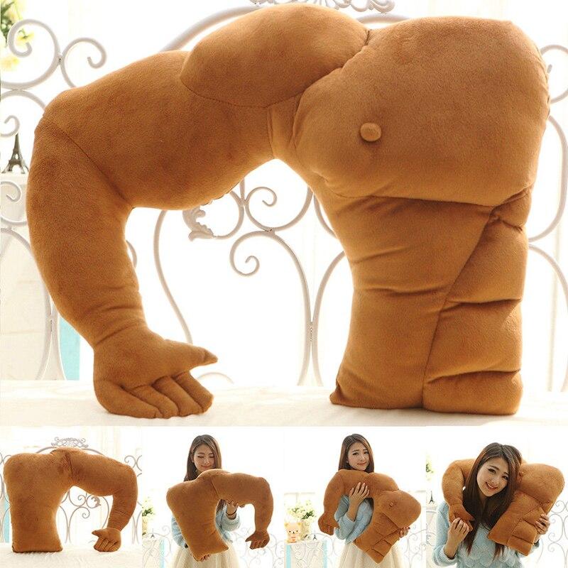 Boyfriend Arm Pillow Soft Plush Stuffed Toys Muscle Arm Sleeping Nap Bed Hug Cushion For Girlfriend Body Throw Pillows Doll Gift