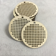 50 pcs Small Wooden Jewelry Blanks  Round