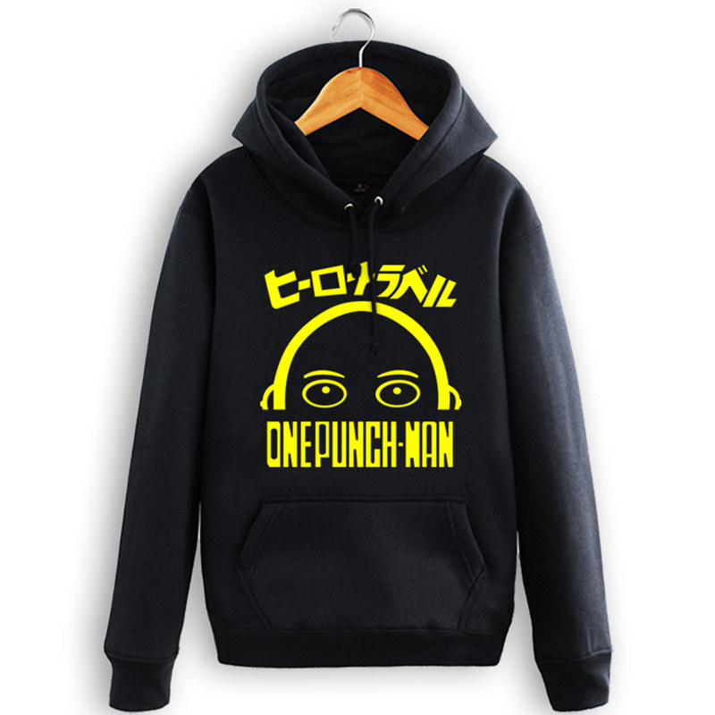 2017 new cartoon hoodies boxing superman one punch man Saitama teacher blows male hoodies plus velvet cotton sweatshirt