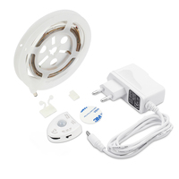 12V Motion Sensor LED Strip Night Light Dimmable Strip Bed Light Automatic Off Timer Warm White