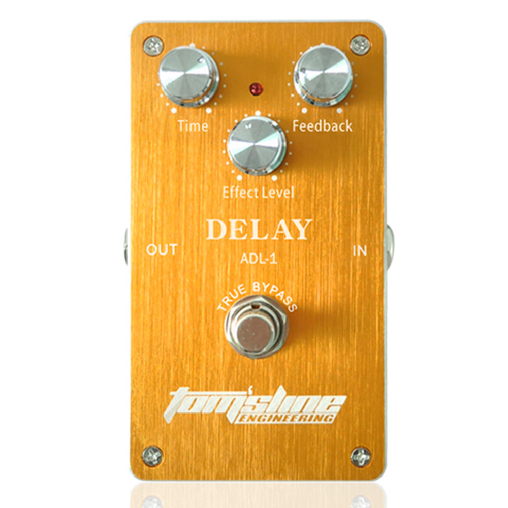 Tomsline ADL-1 Delay Premium Analogue Electric Guitar Effect Pedal True Bypass AROMA new aroma adr 3 dumbler dumble amp sound overdrive mini analogue effect true bypass