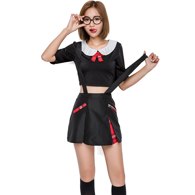 New Cute Teacher Student Cosplay Dress Play Costume Performance Y Temptation Exotic Clothes