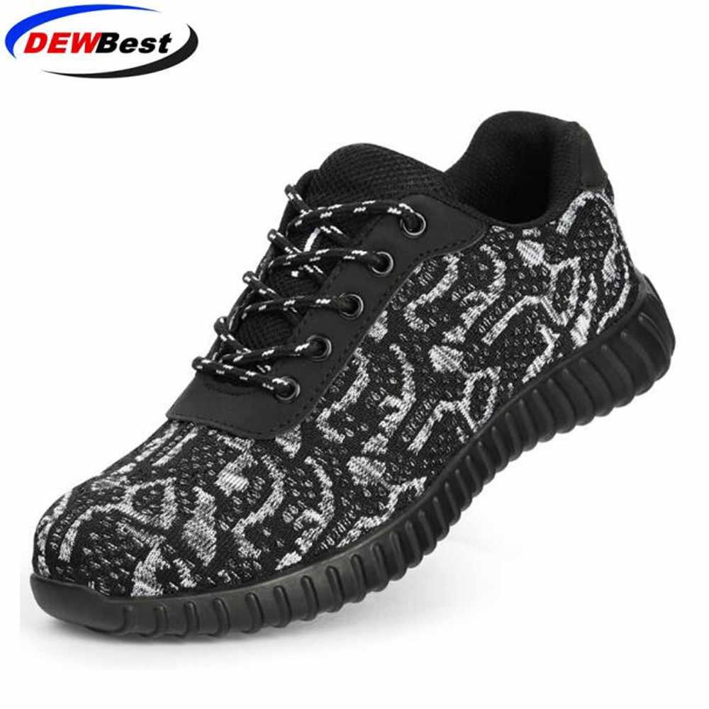 Stahl Kappe Sicherheit Schuhe Männer Frauen Atmungsaktive Mesh Industrie & Bau Pannensichere Arbeit Schuhe Schutz Schuhe